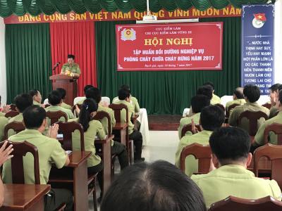 Chi cục Kiểm lâm vùng III phối hợp với Chi cục Kiểm lâm Kiên Giang  tổ chức Hội nghị tập huấn nghiệp vụ Phòng cháy chữa cháy rừng