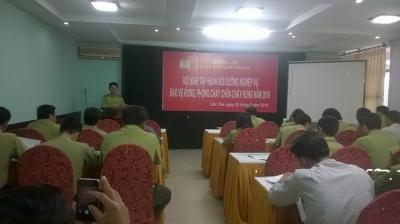 Chi cục Kiểm lâm vùng III phối hợp với Chi cục Kiểm lâm thành phố Cần Thơ tổ chức Hội nghị tập huấn Phòng cháy chữa cháy rừng năm 2016