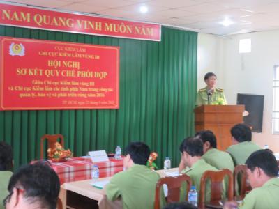 Hội nghị sơ kết quy chế phối hợp giữa Chi cục Kiểm lâm vùng III và Chi cục Kiểm lâm các tỉnh phía Nam về công tác quản lý, bảo vệ rừng và quản lý lâm sản